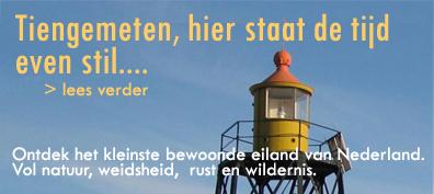 Tiengemeten. Zuid-Beijerland. Ontdek het kleinste bewoonde eiland van Nederland. Vol natuur, weidsheid, rust en wildernis.